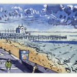 Southsea Pier (Sugar Lift Aquatint Etching - 2003 - paper - 56cm x 38cm)
