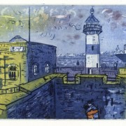 Southsea Castle (Sugar Lift Aquatint Etching - 2003 - paper - 56cm x 38cm)