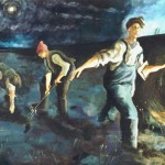 The Bait Diggers Oil on canvas 1984